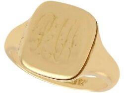 Gent's Antique 18k Yellow Gold Signet Ring With Enamel