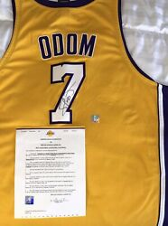 Lamar Odom-game Jersey/auto-official Laker Organization Authenticity. See Pics