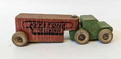 Rare Vintage 4 Wooden Articulating Keystone Trucking Toy Truck And Trailer