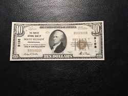National Bank Note Mount Pleasant Pa Only 16 Small Known Cool Seriel No
