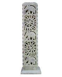 Amg_candle Holder And Incense Burner Lamps With Flower And Elephant Design
