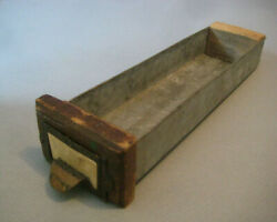 Hardware Cabinet Bin Drawer Nails Parts Antique Small Wood Galvanized Metal