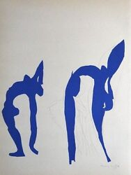 Henri Matisse 'acrobates' 1953 Hand Signed Lithograph