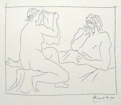 Pablo Picasso And039metamorphoses Dand039ovide-homme Et...and039 1931 Hand Signed Lithograph