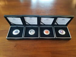 Rare The Earth And Beyond Silver Complete Collection Four Coin Set
