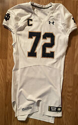 Notre Dame Football 2014 Game Used Under Armour Captain Jersey 72 Nick Martin