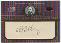 Rutherford B. Hayes 2008 Ud Signs Of History Cut Signature Auto Autograph 50/75