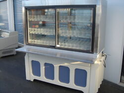 Lighted Refrigerated Merchandiser Glass Display Case Commercial Cooler Table
