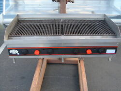 48 Commercial Charbroiler Grill Barbecue Bbq Nat Gas Accommodates Briquettes
