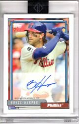 2020 Transcendent Auto Bryce Harper Through The Years 1/1 Autograph 1992 Topps