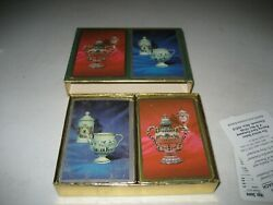 Vintage Double Deck Pinochle Victorian Congress Playing Cards Complete