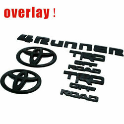 For 2017-2020 Toyota 4runner Blackout Emblem Overlay Kit Oem Trd Off Road