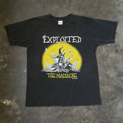 Vintage 90s The Exploited Tour U.s.a. And03991-and03992 Massacre Punk Rock Metal T-shirt
