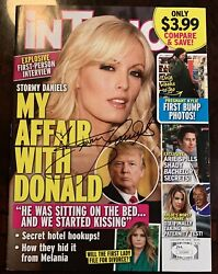 Signed Coa Stormy Daniels In Touch Magazine President Donald Trump Silver Ticket
