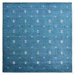 Hand Knotted Silk And Wool Area Rug Contemporary Blue White Bbh Homes Bblsm501