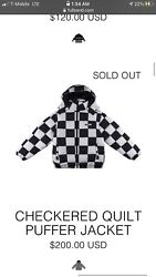 Full Send Checkered Quilt Puffer Jacket - Limited Edition
