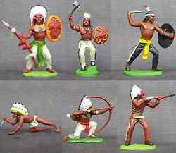 Dsg Plains Indians - Britains Herald - 54mm Painted Plastic - Colors May Vary