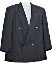 Vito Rufolo Menandrsquos 46-41s Navy Super 100andrsquos Wool Double-breasted Blazer Italy