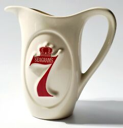 Vintage Mccoy Seagrams 7 Crown Pub Jug Pitcher Water For Your Whiskey 1970and039s