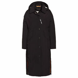 Creenstone Functional Lightweight Long Trench Womens Jacket - Black All Sizes