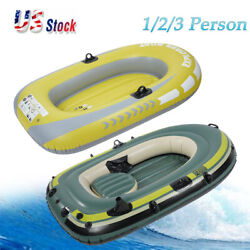 1/2/3 Person Heavy Duty Inflatable Raft Dinghy Fishing Boat Kayak 250kg Load Us