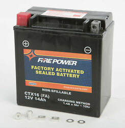 Fire Power Ctx16-bs Fa Sealed Factory Activated Battery Ctx16