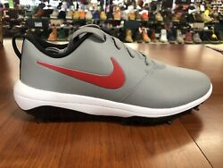 New Nike Roshe G Tour Menand039s Size 9 Wide Gray Red White Golf Shoes Ar5579-003