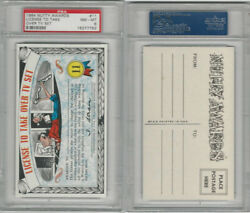 1964 Topps, Nutty Awards, 11 License To Take Over Tv Set, Psa 8 Nmmt