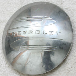 Vintage Chevy Chevrolet Silver Moon Style Hub Cap For Truck 50s Mirror Finish