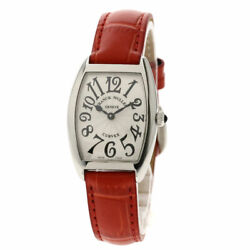 Franck Muller Tonookabex Watches 1752bqz Stainless Steel/leather Ladies