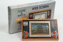 Lcd Fire Attack Game Watch Id-29 Boxed Wide Screen Tested Nintendo Japan 1722