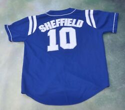 Vintage Rare Russell Mlb Los Angeles Dodgers Garry Sheffield 10 Jersey Size L.