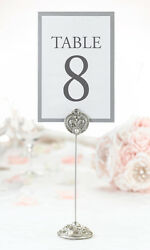 Set Of 4 Jeweled Table Markers Table Number Holders Wedding Bridal Shower Table