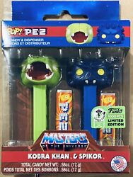 Funko Pop Pez Masters Of The Universe Kobra Khan And Spikor Eccc 2021 Le 1000