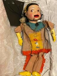 Antique Howdy Doody Marionette Princess Summerfall Peter Puppet Playthings Rare