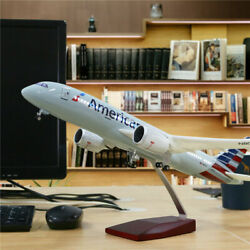 Us 43cm 1130 Plane Toy American Airline Model Boeing 787 With Stand And Led Light