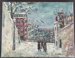 Listed French Artist Maurice Utrillo Signed Oil On Canvas 1914 Rare White Period