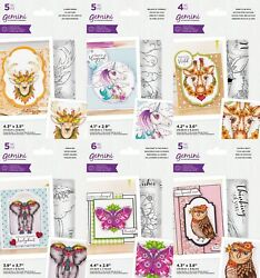 New 2021 Gemini Illustrated Animals Dies And Stamps By Crafters Companion Reduce