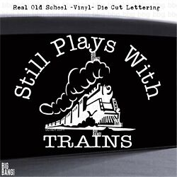 Decal Sticker Vinyl Model Railroad Enthusiast Train Passion Display Village Gift