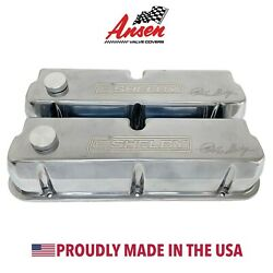Ford Carroll Shelby Signature Tall Valve Covers Polished W/ Oil Caps - Ansen Usa