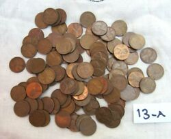 Lot 109 1948 Lincoln Copper Wheat Pennies From Estate Us Coins Unsearched