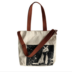 Women Canvas Tote Handbags Casual Shoulder Crossbody bag with painted cat $10.99