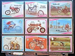 1974 Scanlens Choppers And Hot Bikes Complete 66 Card Set Ex Htf