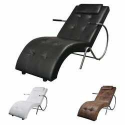 Ergonomic Recliner Rocking Chair Outdoor Sun Lounger Chair Leather Relaxing Seat