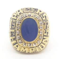1972 Indiana Pacers Cannon Nba Finals 18k Gp Brass Championship Ring And Wood Box