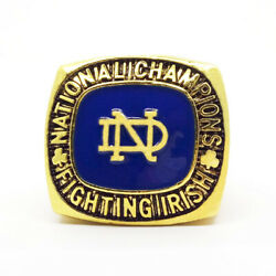 1949 Notre Dame Leahy Ncaa 18k Gp Brass Championship Ring And Wood Box