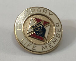 Vintage 10k Gold Filled Knights Of Columbus Honorary Life Member Lapel Pin