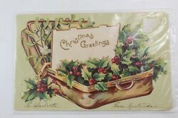 Antique1907 Christmas Postcard Watertown Connecticutundivided Back Paper Epherma