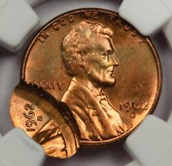 1962 Ngc Ms64rb Double Date Double Struck Lincoln Cent Mint Error Two Dates Wow