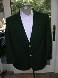 Rz David Taylor Country Club Style Two Gold Button Green Blazer Jacket Mens 44r